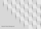 Fototapety Abstract mosaic square gray and white background.