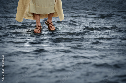 Jesus Walking on Water Poster