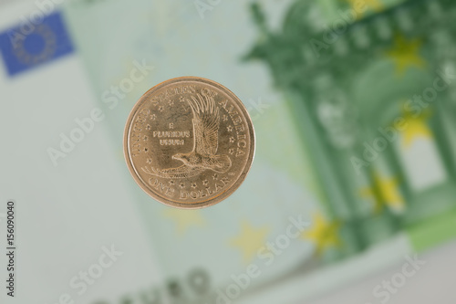 Poster coin of one dollar