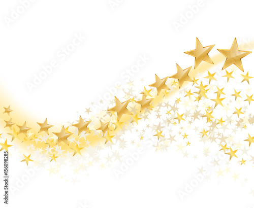 golden stars abstract background. vector illustration - 156098285