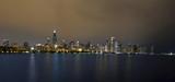 Night Time Panorama of Chicago Skyline