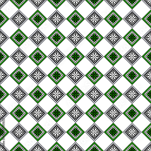 Seamless vector decorative hand drawn pattern. ethnic endless background with ornamental decorative elements with traditional etnic motives, tribal geometric figures. Print for wrapping, background - 156101832