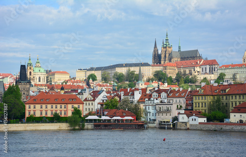 Poster Prague Castle and Mala Strana seen in the early morning