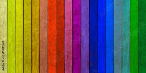 lamelles de bois couleurs Poster