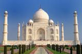 White marble Taj Mahal in India, Agra, Uttar Pradesh.