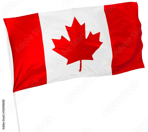 Foto op Canvas Canada Canadian Flag isolated on white