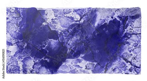 dark blue jasper rectangle isolated on white
