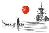 Japonia Tradycyjne japo? Skie malarstwo Sumi-e sztuki Japonia Tradycyjne japo? Skie malarstwo Sumi-e sztuki Cz? Owiek z? Odzi