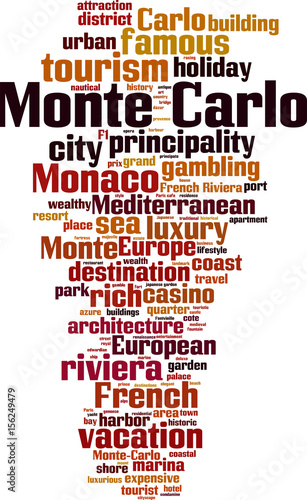 Monte Carlo word cloud