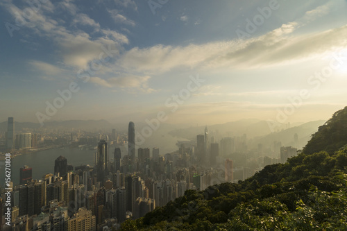 Hong Kong skyline in the morning