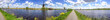 Kinderdijk windmills, panoramic view - The Netherlands