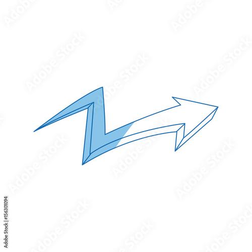 Papiers peints Graffiti graffiti arrow abstract design creative icon vector illustration