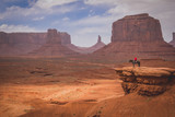 Monument Valley cowboy on a horse.