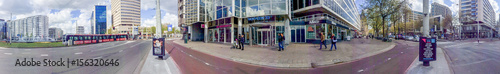 Foto op Plexiglas Rotterdam ROTTERDAM, THE NETHERLANDS - APRIL 2015: Tourists visit city streets. This is a major tourist attraction in Holland