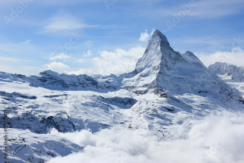 View of the Matterhorn from the Rothorn summit station Poster
