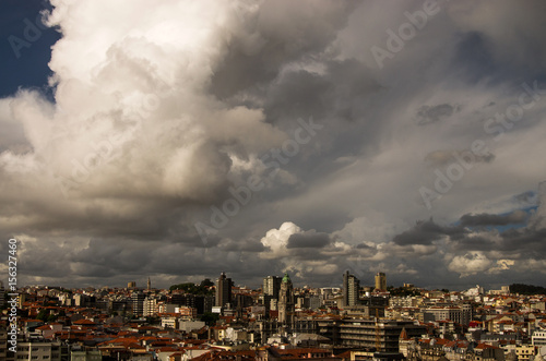 Storm clouds over the city