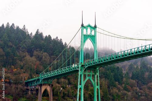St Johns bridge Portland Oregon arches gothic style Photo by vit
