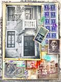 Vecchie cartoline,carte,francobolli e timbri italiani