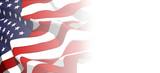 waving american flag background - 156463609