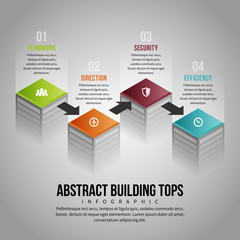Abstract Building Tops Infographic