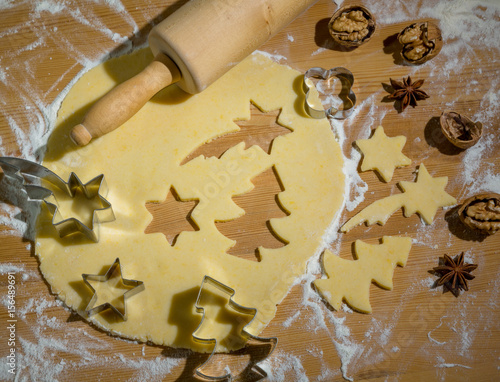Foto op Canvas Bakkerij cookies for christmas