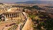 Aerial drone photo of Acropolis and the Pathenon, Athens historic centre, Attica, Greece - 156536084