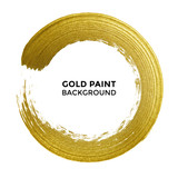Gold circle glitter ...