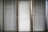 Closed blinds on the window