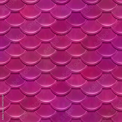 Cotton fabric Nahtloses Muster Schuppen pink