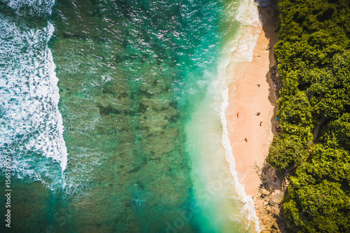 Foto op Plexiglas Bali Green bowl beach, Uluwatu Bali.