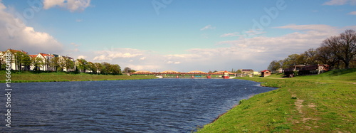 Odra we Wrocławiu - widok na mosty Trzebnicki