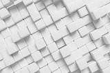 White cubes abstract diagonal 3d background