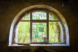 Rundes buntes Fenster