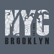 New York tee print. T-shirt design graphics stamp label typography.