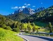 Quadro Excellent road into the Val de Funes