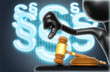 Law Concept With The Original 3D Character Illustration And Section Symbols