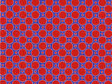 Red and Blue Dot Background