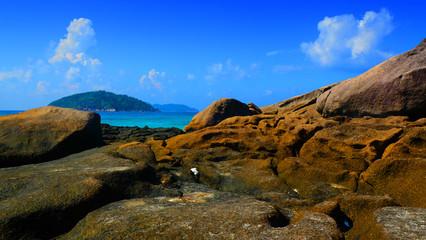 Island beach in Thailand. Similan island., Phang-nga.