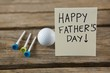 greeting card with happy fathers day text