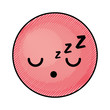 cute red kawaii emoticon face vector illustration graphic design
