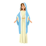 cartoon cute virgin mary character nativity design. vector illustration - 156846893