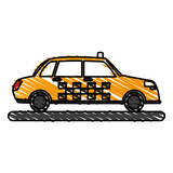 car, toy, little, vector, illustration, icon, design, graphic, sketch