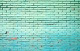 Old Grunge Green Brick Wall Background - 156882220