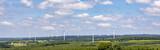 panoramic view of wind generators