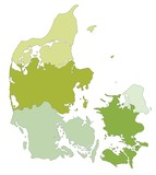 Highly detailed editable political map with separated layers. Denmark. - 156969435