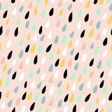 Cute seamless pattern with colorful water drops. Childish texture for fabric, textile.Vector Illustration - 156973891