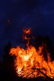 Loderndes Feuer