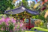 Closeup of Korean Traditional Garden in Kiev, Ukraine in the Summer