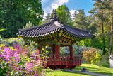 Korean Traditional Garden in Kiev, Ukraine in the Summer
