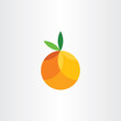 orange citrus fruit geometric icon vector - 157048462